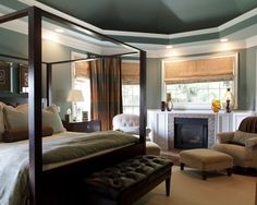 family rooms with painted coffered ceiling - Google zoeken
