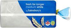 Sainsbury's Fresher for Longer Medium Sliced White Bread White Day, Sainsburys, White Bread, Long A, Personal Care, Fresh, Medium, Self Care, Personal Hygiene