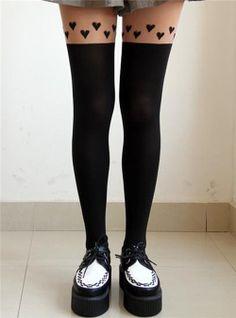 2013 for Girl Stockings Leggings Trendy Tattoo Temptation Sheer Pantyhose Tights | eBay