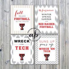 Texas Tech Printable Football Signs set of 4 by ashlynnbiel, $15.00