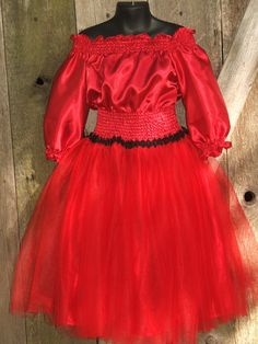 Pirate Princess Smocked Peasant Tulle  Dress von sweetthoughtshoppe, $40,00
