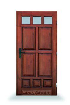 Berill.  Fa bejárati ajtó.  Biztonságot hoz minden otthonba. Igen tartós, hosszú távú megoldás, mindezt magas minőségen, és kedvező áron. Egyedi méretben is. Tall Cabinet Storage, Fa, Minden, Doors, Design, Home Decor, Decoration Home, Room Decor