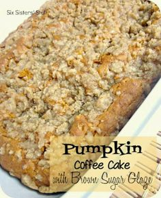 Pumpkin coffee cake with brown sugar! By Six sisters stuff