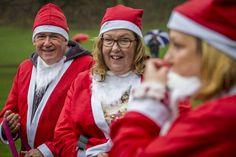 The soggiest!!! of Santa Jogs (5km fundraising event) around Mary Stevens Park, Stourbridge in support of The Mary Stevens Hospice #christmas #santajog #stourbridge #charity #vets