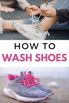 Washing Tennis Shoes, Clean Tennis Shoes, White Tennis Shoes, Washing Shoes In Washer, Homemade Cleaning Supplies, Best Cleaning Products, Household Cleaning Tips, House Cleaning Tips, Cleaning Hacks