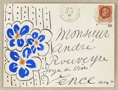 Letter from Matisse