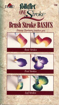 Donna Dewberry VHS How To Paint een lijn Brush Stroke Basics
