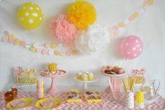 Pink Lemonade themed party by little lemonade. http://little-lemonade.com