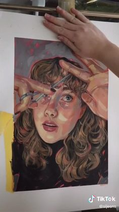 Kunst Inspo, Art Inspo, Cool Art Drawings, Art Drawings Sketches, Painting & Drawing, Acrylic Portrait Painting, Illustration Art, Illustrations, Ap Art