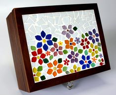 Caixa De Chá em mosaico Primavera