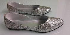 SHUMAXX Ladies Womens Sparkle Glam Glitter Silver Party Wedding Shoes 0127SLR