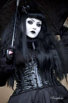 ImageFind images and videos about beauty, gothic and goth women on We Heart It - the app to get lost in what you love. Gothic Outfits, Gothic Dress, Gothic Lolita, Goth Beauty, Dark Beauty, Gothic Girls, Dark Fashion, Gothic Fashion, Emo Fashion