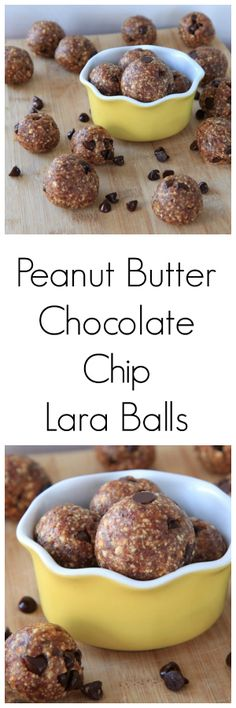 Homemade Peanut Butter Chocolate Chip Lara Bars