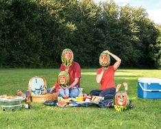 Max Siedentopf reenacts cliché family photography using sculpted watermelons.