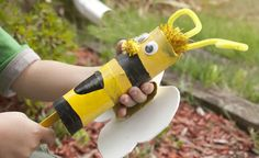 Use recycled materials and make this fun talking puppet to look like a bumble bee!