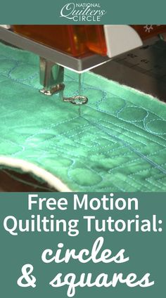 In this video, Heather Thomas teaches you how to add graphic appeal to your quilts with fabulous concentric squares flanked by rows of easy circles. Follow along with Heather as she walks you through this fun free motion border technique.