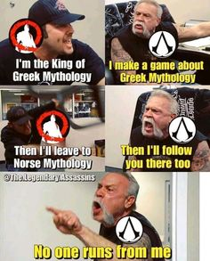 Assassin's Creed, Wtf Funny, Hilarious, Assassins Creed Memes, Are You Not Entertained, Gaming Rules, Funny Quotes, Funny Memes, Games