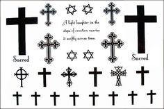 2012 latest new design new release Temporary tattoos waterproof cross hexagram fake tattoo [YM-K021] - $3.99 - GGSell.com, Sell your fashion...