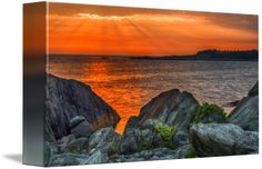 """""""A Sailors Delight"""" by Garvin Hunter,  // This image was made on a recent trip back home to Nova Scotia.  Specifically, it was taken at sunset at Cape Forchu which is located 15 minutes outside of Yarmouth, Nova Scotia.  This area of the province is known for its stunning beauty and iconic lighthouse.  The image was... // Imagekind.com -- Buy stunning fine art prints, framed prints and canvas prints directly from independent working artists and photographers."""