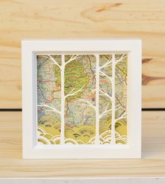 California Paper Cut Shadow Box | This adorable 5'' x 5'' shadow box features a map of Cali-forn... | Shadow Boxes