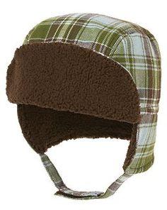 Plaid Flannel Ear Flap Hat