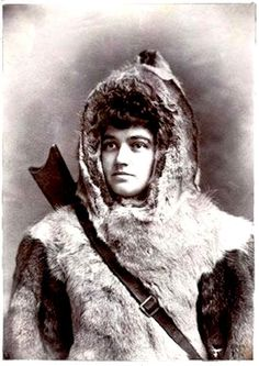 "FIRST WOMAN ARCTIC EXPLORER: Josephine Peary, wife of Robert Peary, was a First Lady of the Arctic, ""Mother of the Snow Baby,"" and a veteran of half a dozen polar expeditions who'd outlived her husband by three decades. Great Women, Amazing Women, Robert Peary, Arctic Explorers, Early Explorers, Brave, Exploration, Thing 1, Interesting History"