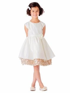 b5d12d2f34a Ivory   Champagne Satin w  Ruffle Dress. Tulle Dress ...