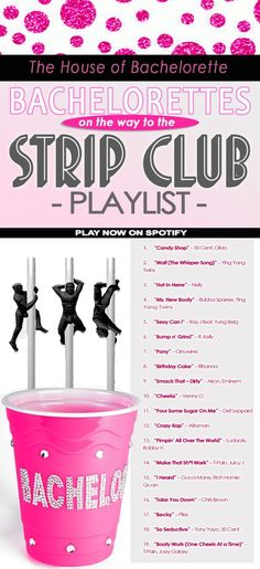 Bachelorette parties 592927107175524857 - Get WILD with this SASSY pre-Strip Club Bachelorette Party playlist! Get WILD with this SASSY pre-Strip Club Bachelorette Party playlist! Source by layerdip Bachlorette Party, Bachelorette Party Playlist, Vegas Bachelorette, Bachelorette Checklist, Bachelorette Drinking Games, Bachelorette Lingerie Party, Party Checklist, Passion Parties, Party Favors