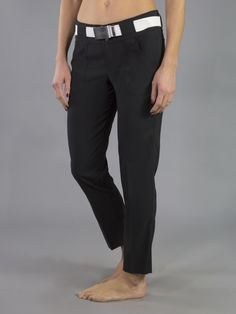 "Check out what Loris Golf Shoppe has for your days on and off the golf course! JoFit Ladies 28"" Inseam Belted Cropped Golf Pants - Barossa (Black)"