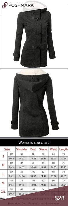 Women's Claw Clasp Wool Blended Pea Coat Jacket Product:Wool Coat 100% Brand New.  Gender:Women Material:Wool Color: Dark Grey size: Large Sleeve Length: Long Sleeve  Season:Winter Style:Fashion Jackets & Coats Pea Coats