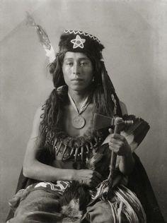 Portrait of Oto man, Cheedobau or Richard W. Shunatona. Part of Siouan (Sioux) and Otoe Tribes. 1900.