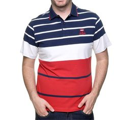 Camisa Pólo Masculina | Espaço Masculino Polo Tee Shirts, Tees, T Shirt, Shirt Men, Casual Attire, Moda Fitness, Stylish Dresses, Stripes, Long Sleeve