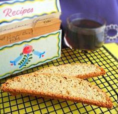 Anise Biscotti  My mom's recipe. (It's the licorice tasting biscotti)