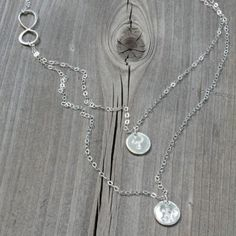 Talisman Jewelry Infinity Double Monogram Sterling Silver Necklace $76.00 #thebellacottage #accessories #fashion