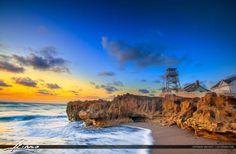Ocean Sunrise Stuart Florida at Beach