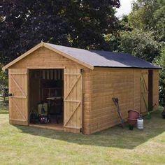 20 x 10 Shiplap Tongue & Groove Windowless Wooden Garden Workshop Building