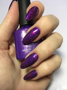 Nail art using Lecenté Pop Fireworks Glitter by Anna Djamarani