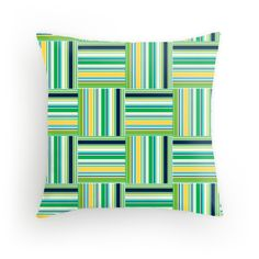 Grass Plaid pillow available at redbubble