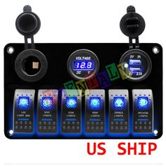 Professional Rocker Switch for all kinds of vehicles. Waterproof and we carry all types of switches for motor cars and boats. - 6 Gang Switch Panel as shown above. Led Strobe, Strobe Light, Jeep Mods, New Surface, Marine Boat, Strobing, Bar Lighting, Car Car, Motor Car