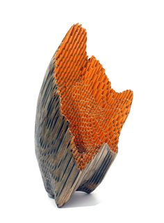 """Like a Geode, a stalagmite or a sunflower..this sculpture made from pencils and carved by Jessica Drenk """"Implement 41"""" is as exciting as they come"""