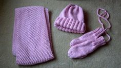 Bekah's scarf, hat, and mittens