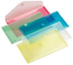 Enveloptas met velcrosluiting. Transparante polypropyleen. Verpakkingseenheid doos à 10 stuks. model voucher 225x125mm. Verzamelmappen Mappen Opbergen