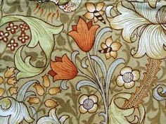 william morris printed fabric -