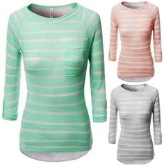 love these tops! stripe long sleeve tops