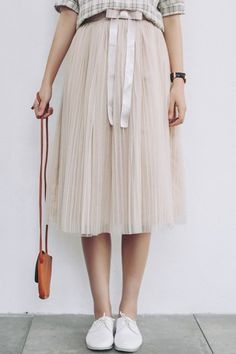 pleated tulle skirt  $14.66  mori kei dolly kei ulzzang gyaru otome kei fachin skirt bottoms under20 under30 sammydress