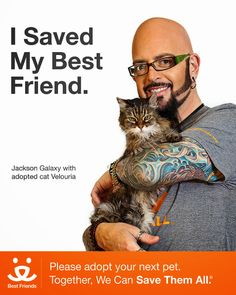 Melissa's Mochas, Mysteries and Meows: Jackson Galaxy, star of Animal Planet's 'My Cat From Hell' Supports Best Friends Animal Society 'Save...