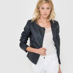 Faux Leather Biker Jacket R édition