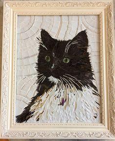 Custom mosaic pet portrait
