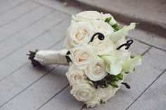 rose wedding flower bouquet   photo by Kreative Angle Photography