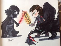 Star Wars and Httyd crossover!!!!!✨:D Credit to: Clara Mc @clara2315